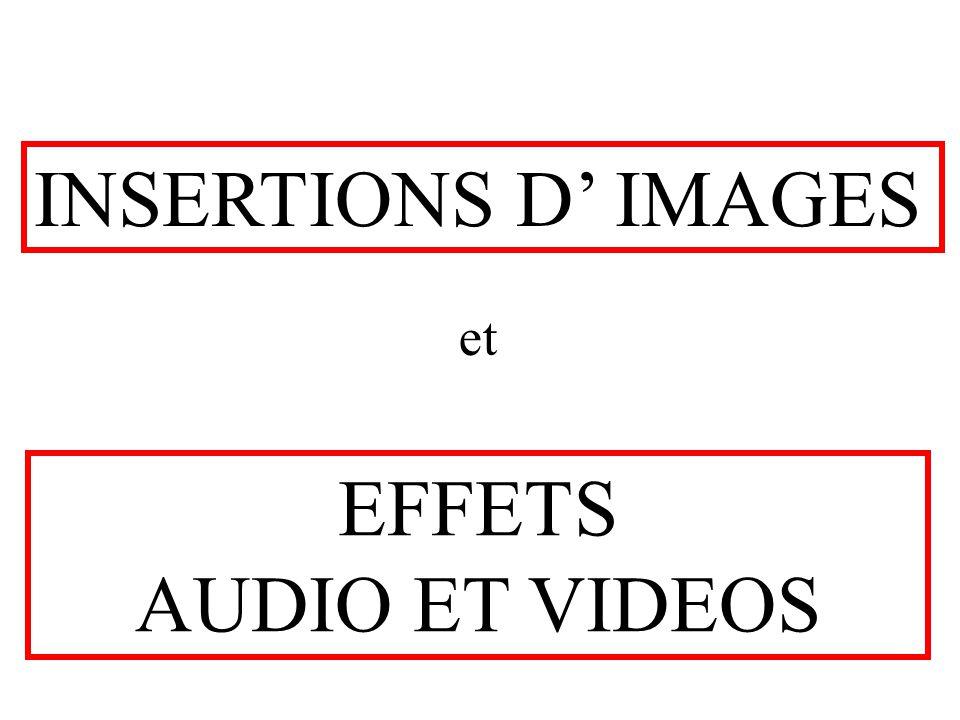  Effets spéciaux sépia Panoramique et zoom etc  Effets de filtres mosaîque bruit diffusion colorisation etc  Effets de transformation miroir onde ondulation etc  effets « dessin » polygone ellipse etc EFFETS VIDEO