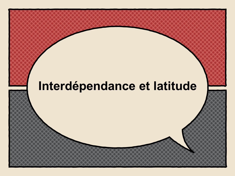 Interdépendance et latitude