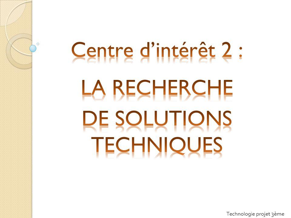 Technologie projet 3ème