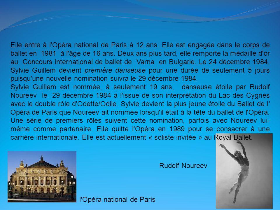 Elle entre à l Opéra national de Paris à 12 ans.