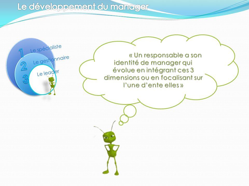 Le spécialiste Le gestionnaire Le leader