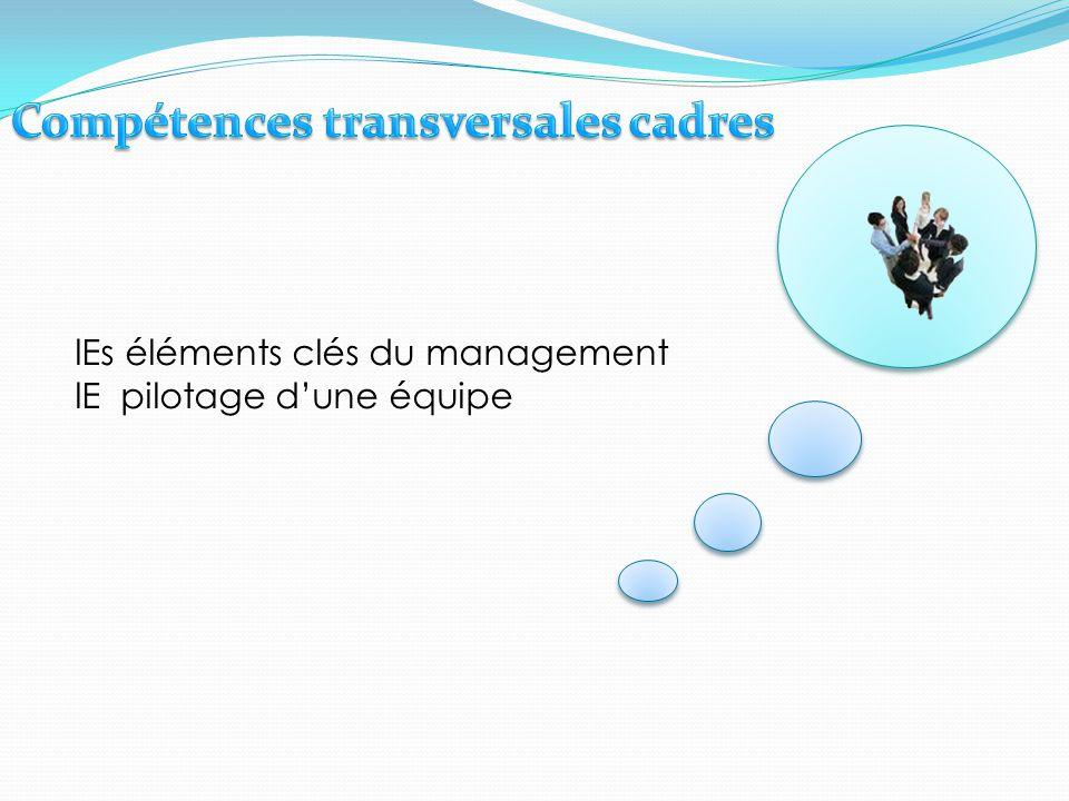 lEs éléments clés du management lE pilotage d'une équipe