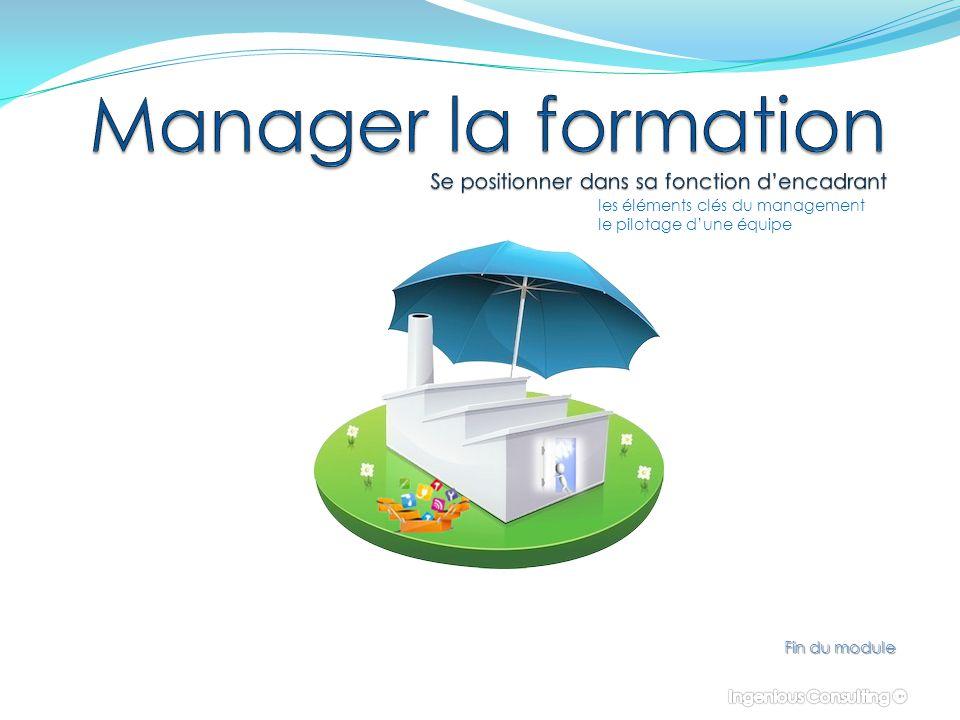 Fin du module les éléments clés du management le pilotage d'une équipe