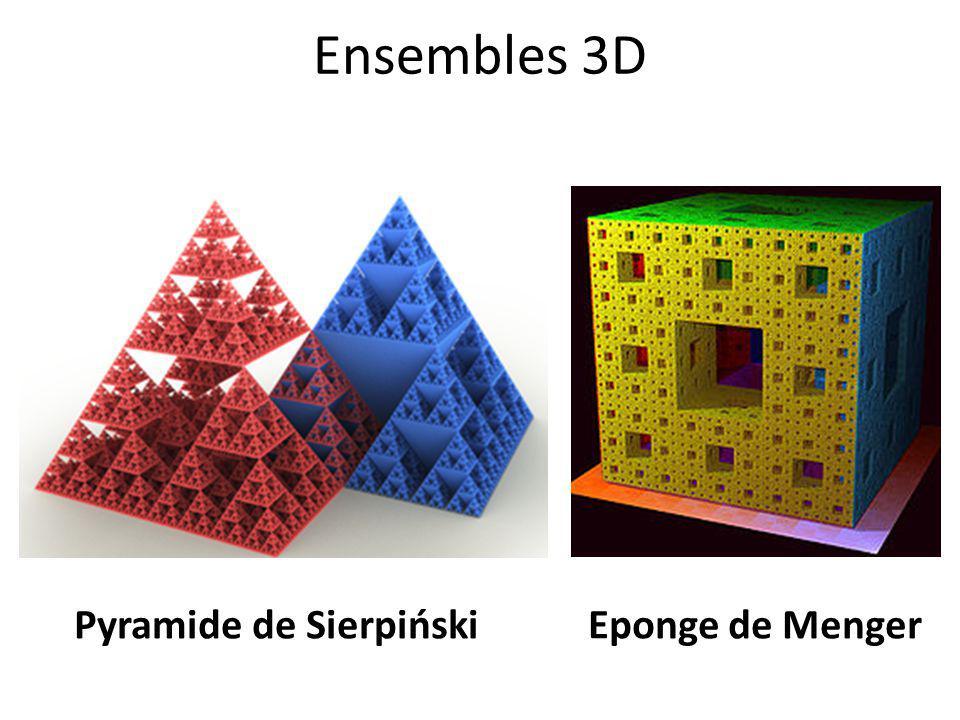 Ensembles 3D Eponge de MengerPyramide de Sierpiński