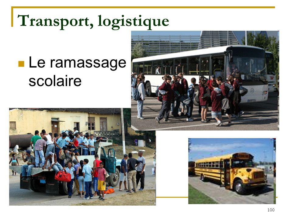 100 Transport, logistique Le ramassage scolaire