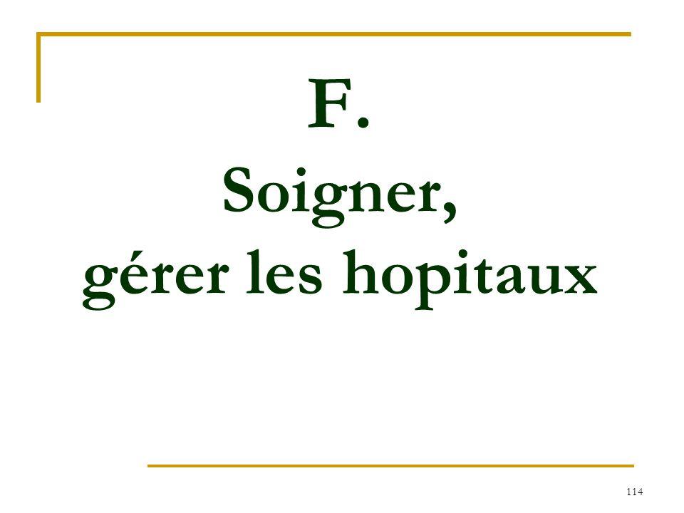 114 F. Soigner, gérer les hopitaux