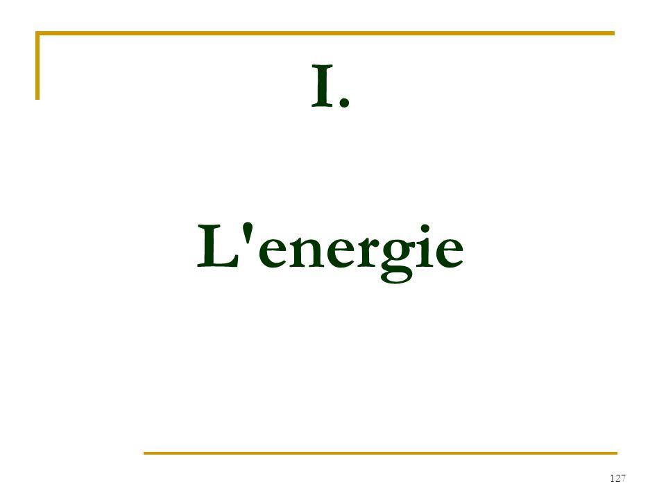 127 I. L'energie