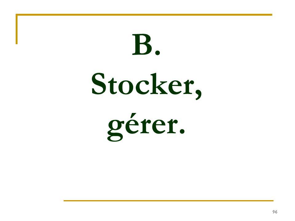 96 B. Stocker, gérer.
