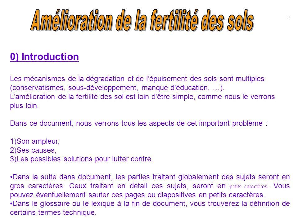 30) Annexe : bibliographie (suite) c) Ouvrages et articles sur la fertilisation ou dégradation des sols BRABANT P., DARRACQ S., EGUE, K.