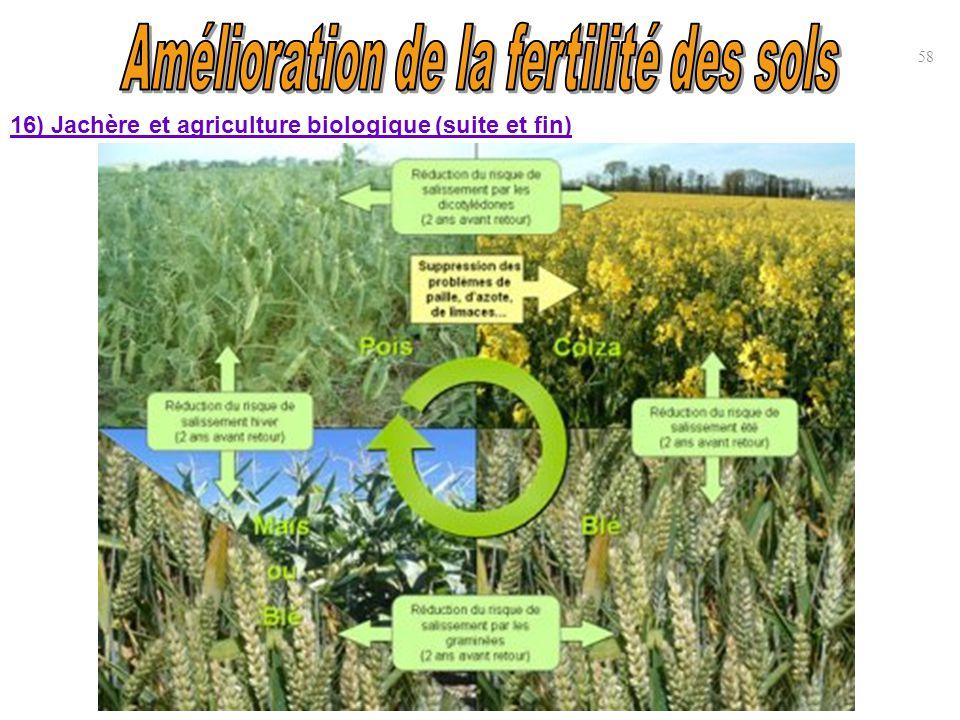 16) Jachère et agriculture biologique (suite et fin) 58