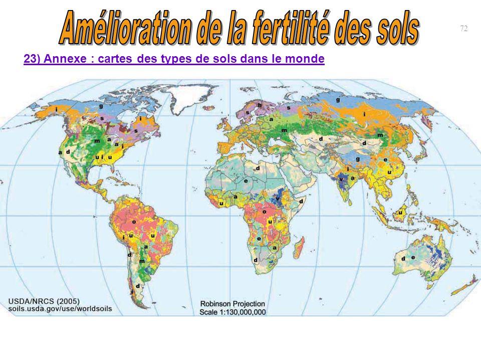 72 23) Annexe : cartes des types de sols dans le monde