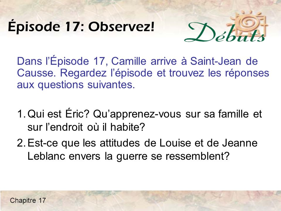 Le futur Camille: Antoine a habité chez vos grands-parents, Pierre et Jeanne.