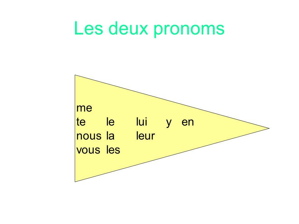 Les deux pronoms Jetedonnemon parapluie.le Merci!
