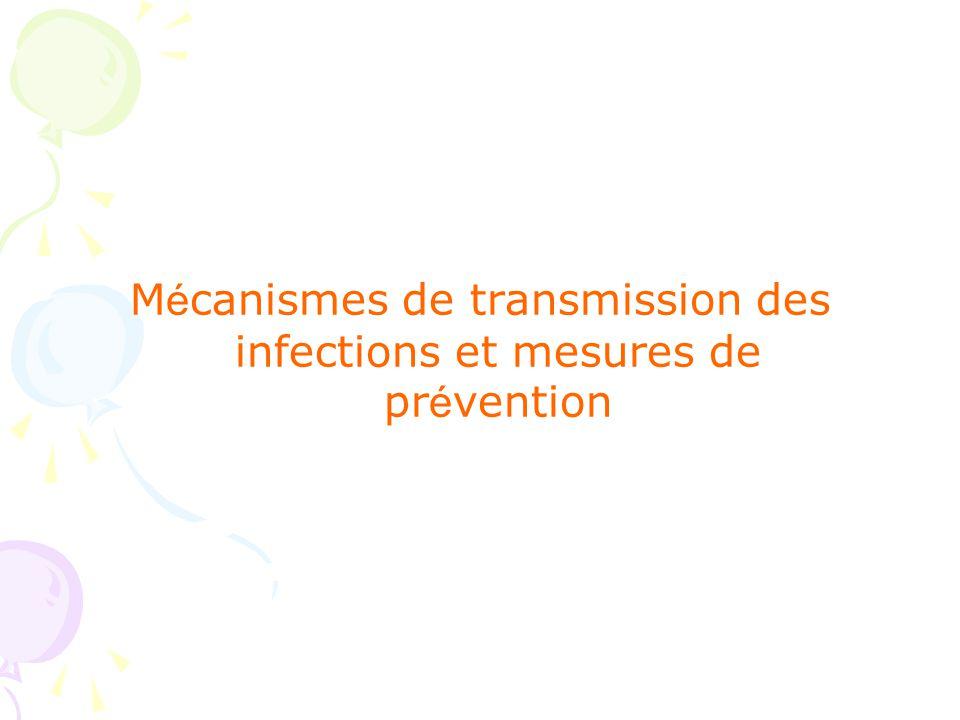 A- M é canismes de transmission des infections