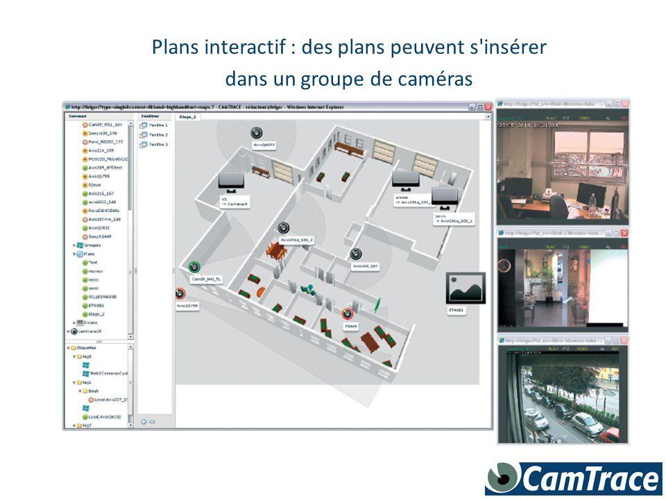 Plans interactif : des plans peuvent s'insérer dans un groupe de caméras