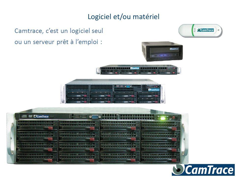Camtrace, c'est un logiciel seul Logiciel et/ou matériel ou un serveur prêt à l'emploi :
