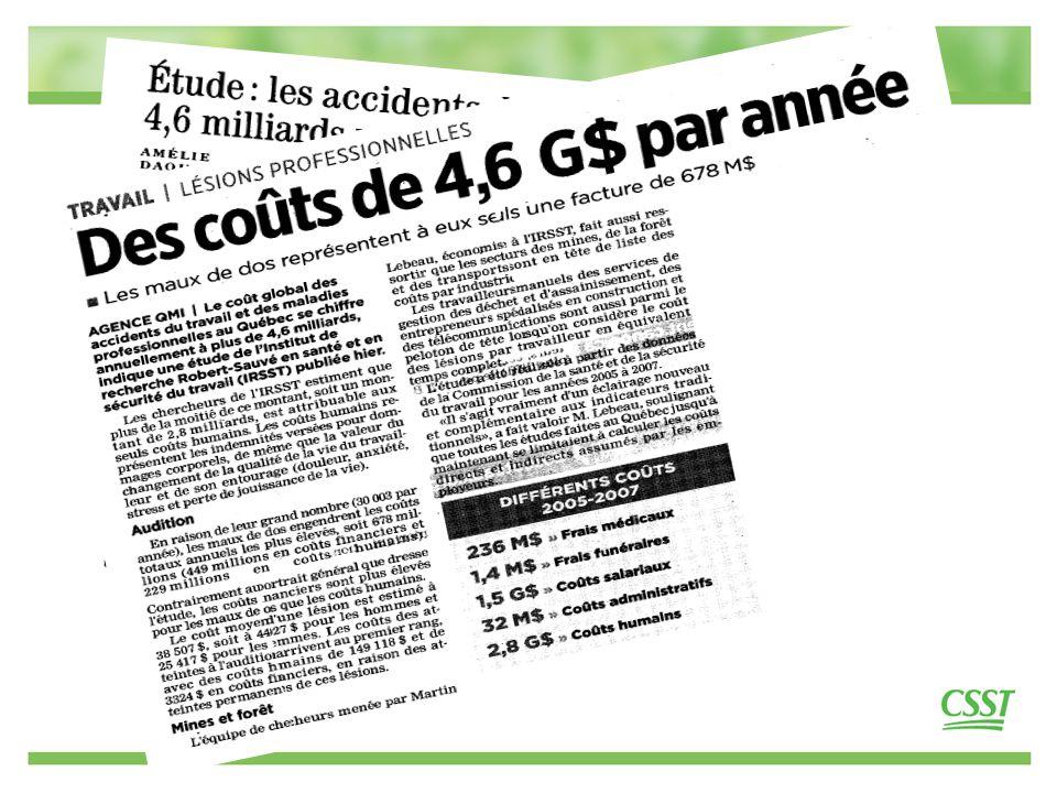 3 La CSST présente sur tout le territoire québécois Pour nous joindre 1 866 302-CSST (2778)
