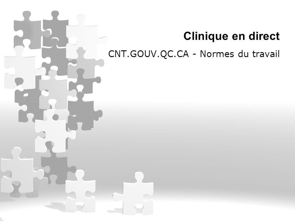 Clinique en direct CNT.GOUV.QC.CA - Normes du travail
