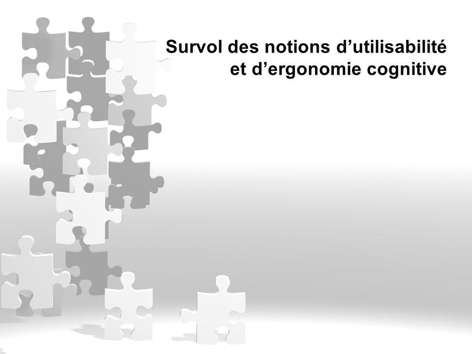 Survol des notions d'utilisabilité et d'ergonomie cognitive