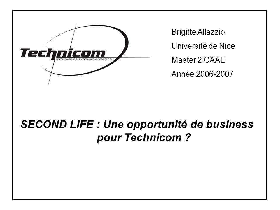 SECOND LIFE : Une opportunité de business pour Technicom .