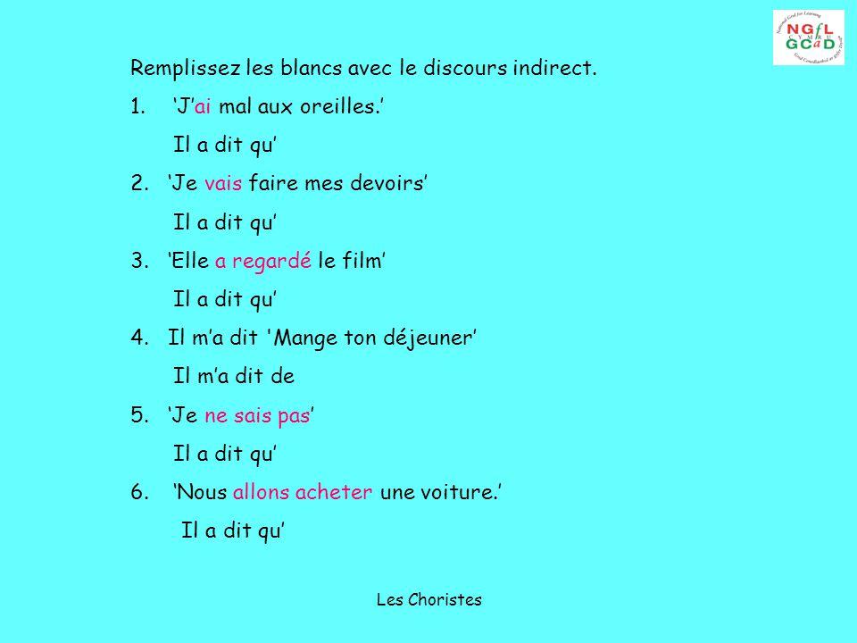 Les Choristes What?.