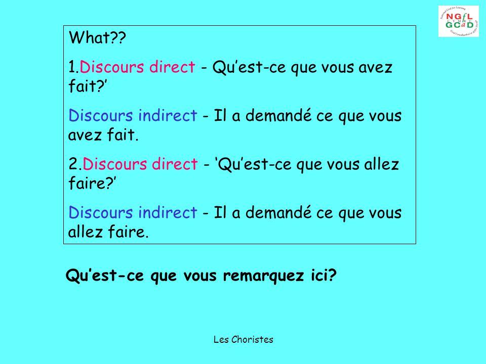 Les Choristes What .