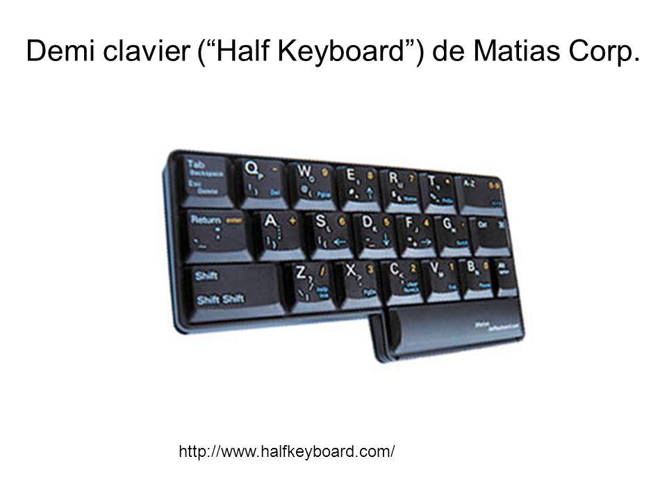 Demi clavier ( Half Keyboard ) de Matias Corp. http://www.halfkeyboard.com/