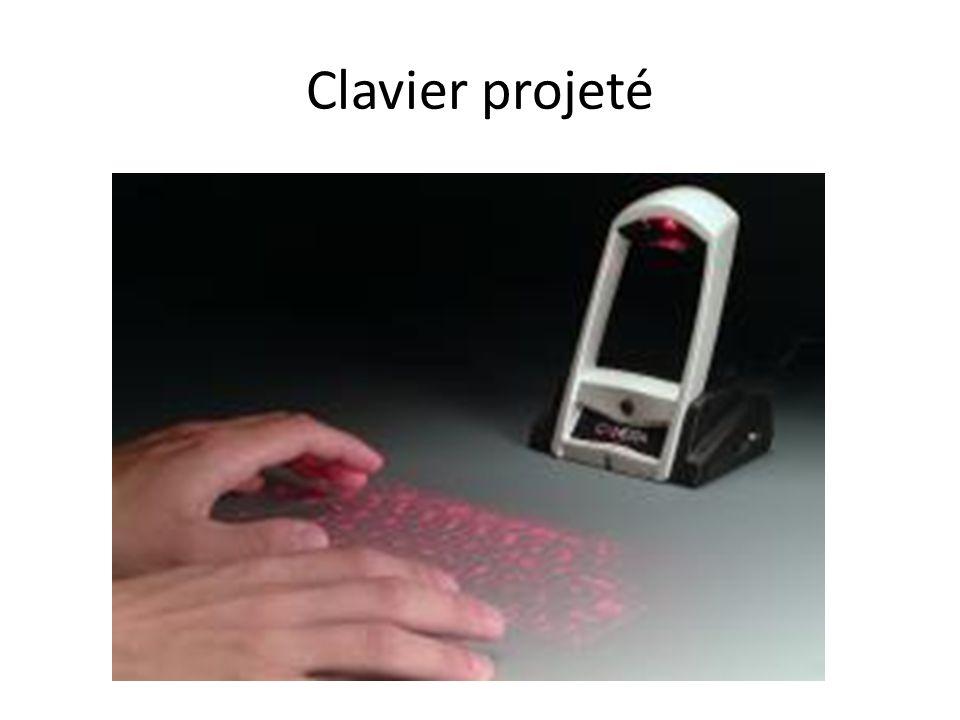 Clavier projeté