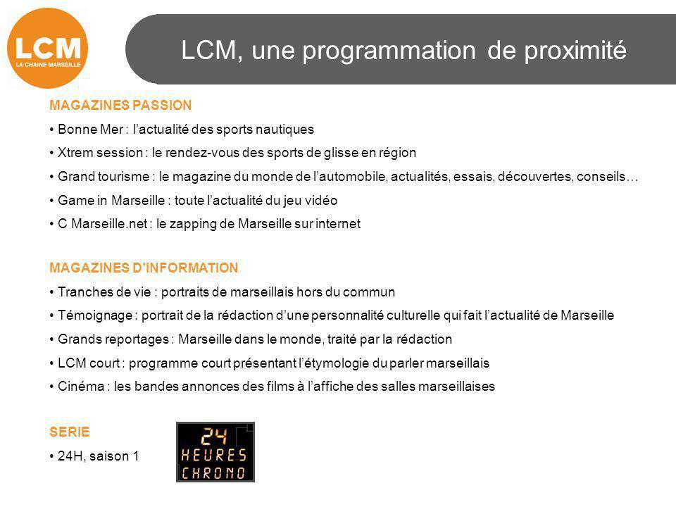 LCM, une programmation de proximité MAGAZINES PASSION Bonne Mer : l'actualité des sports nautiques Xtrem session : le rendez-vous des sports de glisse