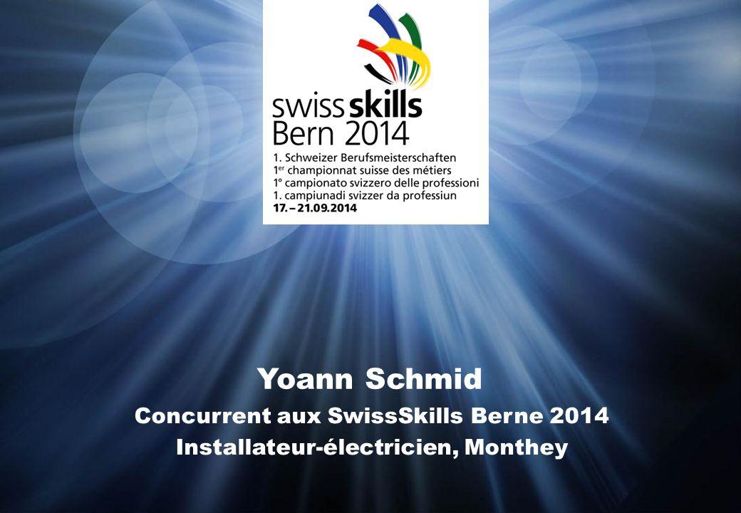 Yoann Schmid Concurrent aux SwissSkills Berne 2014 Installateur-électricien, Monthey