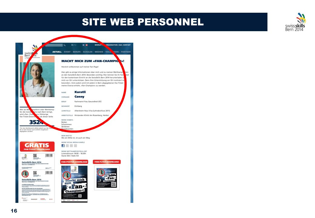 16 SITE WEB PERSONNEL