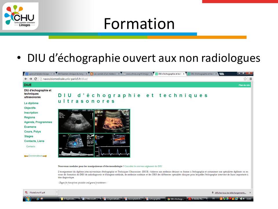 Formation DIU d'échographie ouvert aux non radiologues