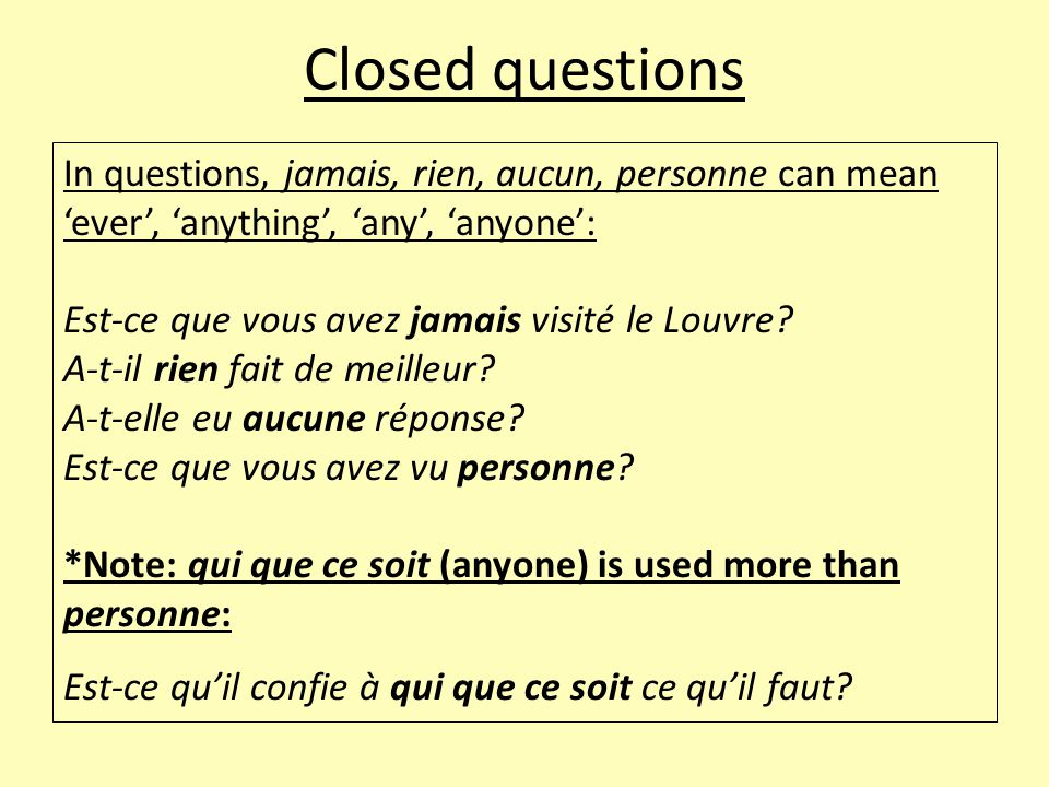 Question words Quel (which) is used with nouns and noun phrases and agrees in number and gender with the noun: Quel as a subject: Quelle écrivaine n'a pas rêvé d'être célèbre.