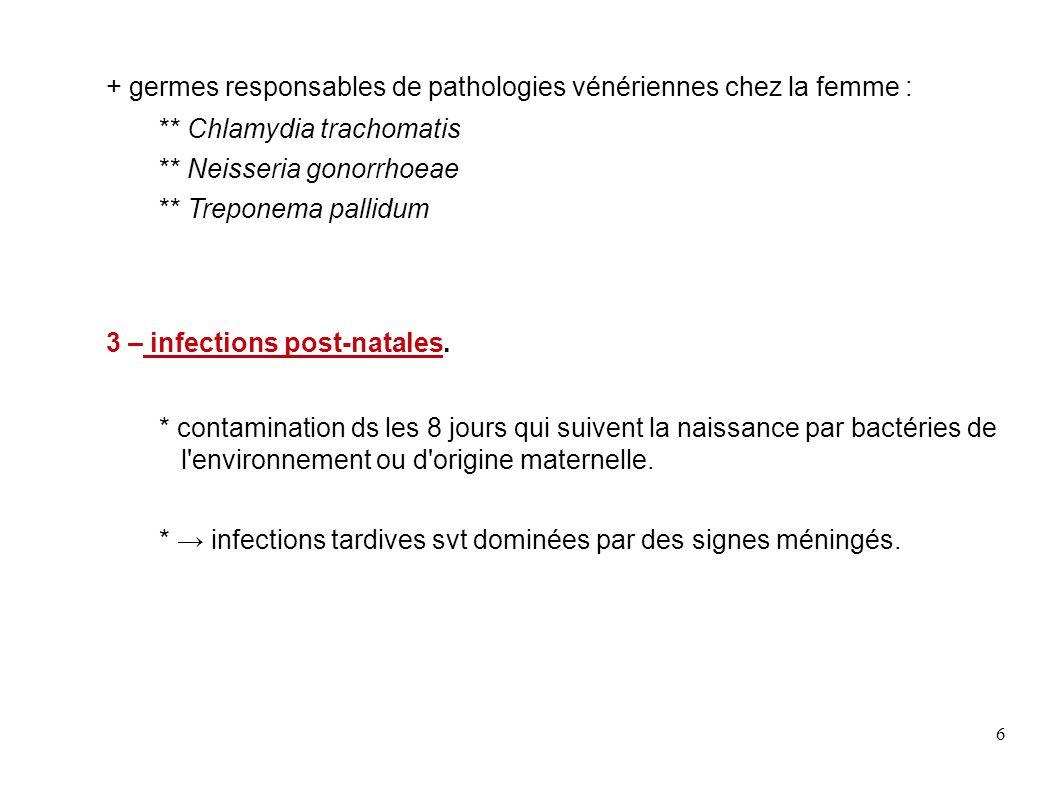17 Caractères biochimiques.