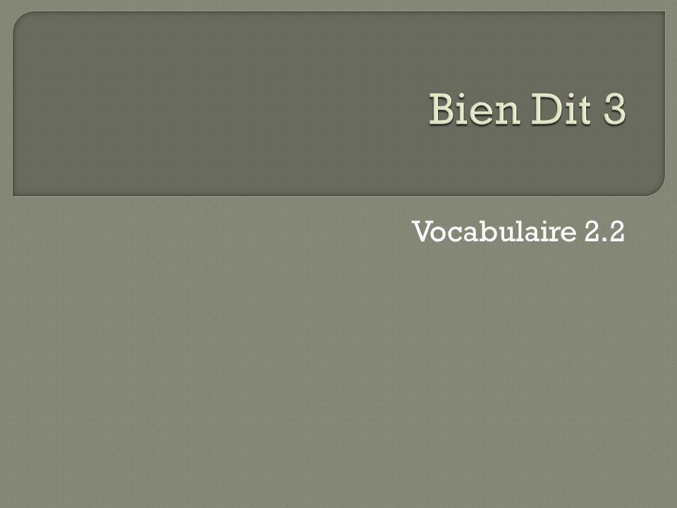 Vocabulaire 2.2