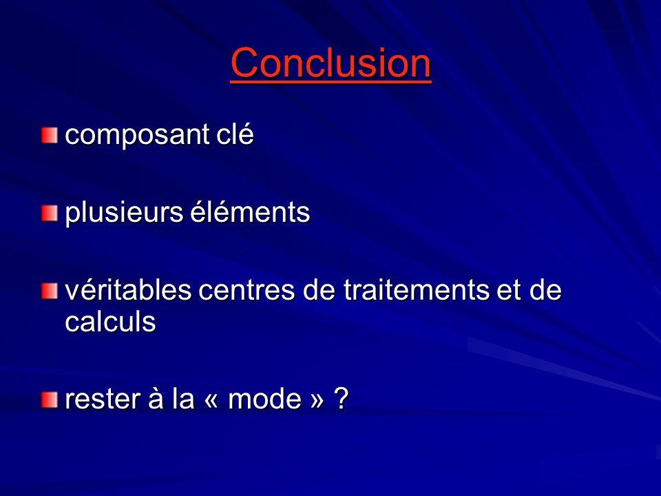 Conclusion composant clé plusieurs éléments véritables centres de traitements et de calculs rester à la « mode »