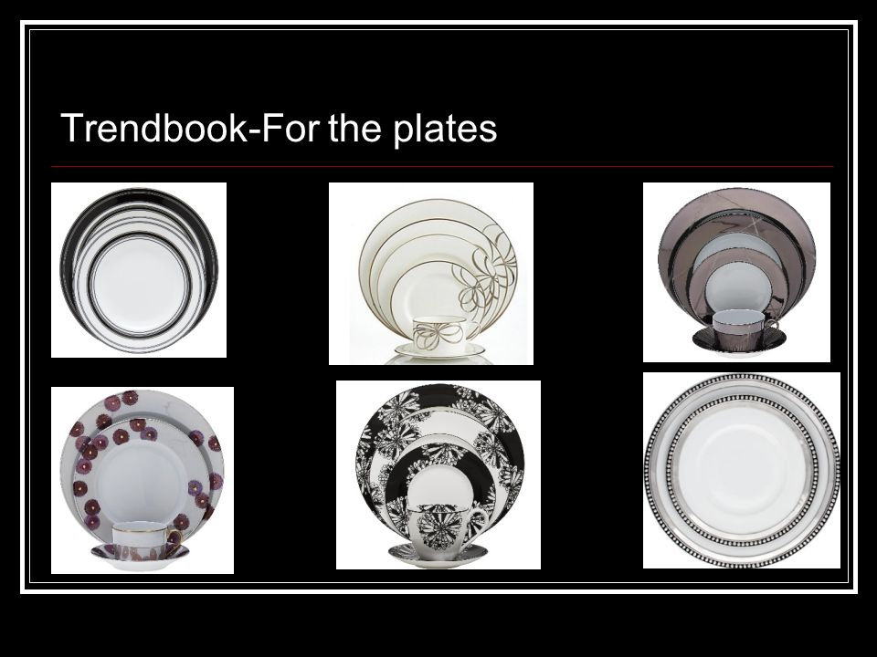 Trendbook-For the plates