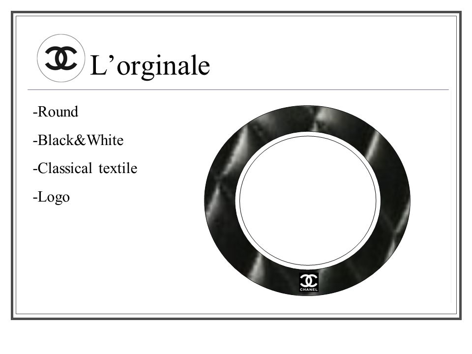 L'orginale -Round -Black&White -Classical textile -Logo