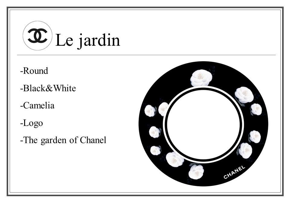 Le jardin -Round -Black&White -Camelia -Logo -The garden of Chanel