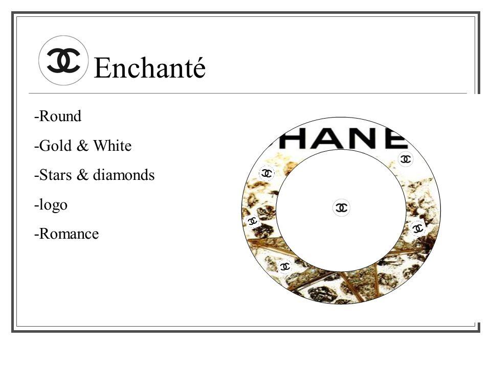Enchanté -Round -Gold & White -Stars & diamonds -logo -Romance