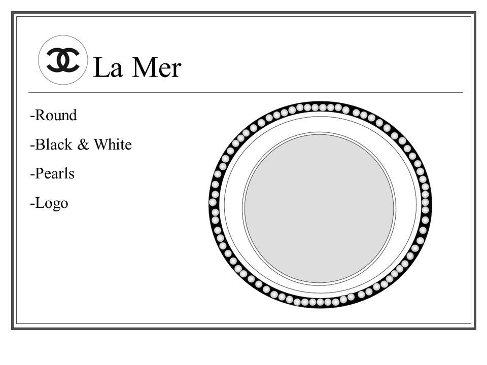 La Mer -Round -Black & White -Pearls -Logo