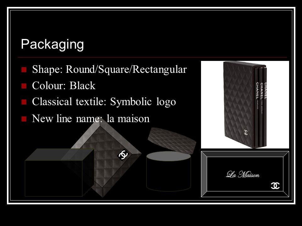 Packaging Shape: Round/Square/Rectangular Colour: Black Classical textile: Symbolic logo New line name: la maison La Maison