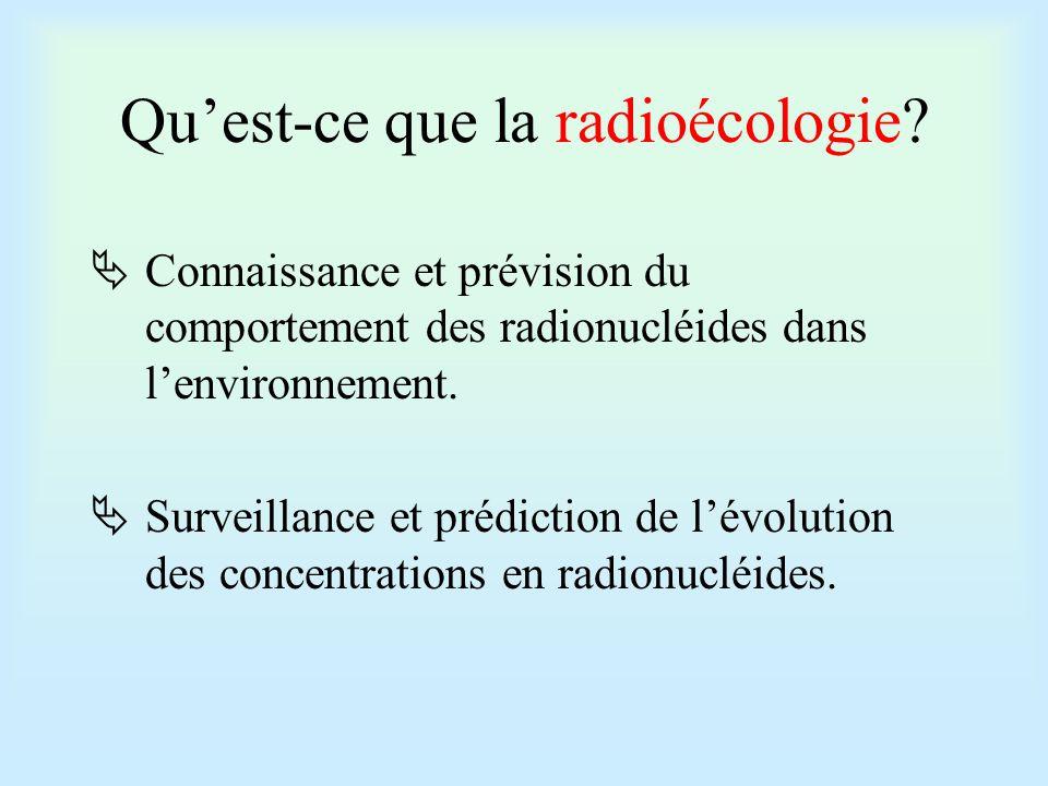 Pour atteindre ces objectifs:  Etudes de terrain: surveillance et informations sur la localisation des radionucléides dans le milieu  Etudes en laboratoires: études des différents paramétres en maîtrisant leurs variations.