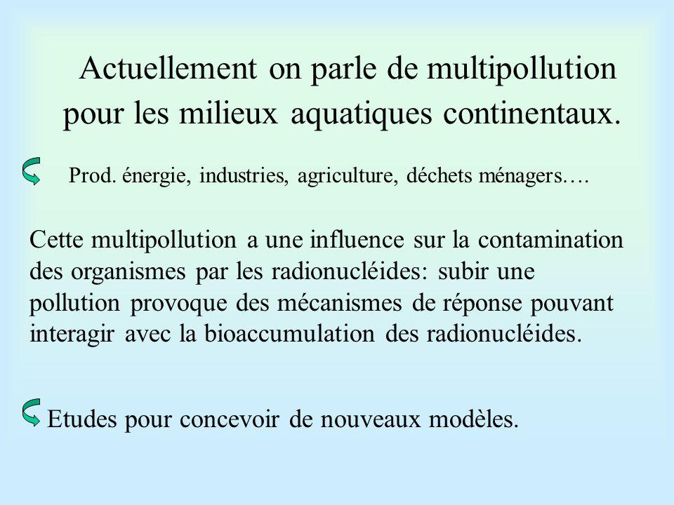 Ces différents polluants peuvent interagir ou non:  Absence d'interaction: actions différentes et indépendantes.