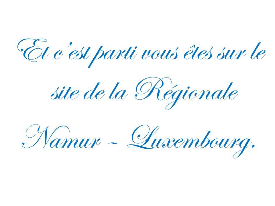 Et c'est parti vous êtes sur le site de la Régionale Namur – Luxembourg.