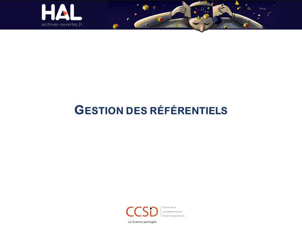 Construire une URL de recherche sous la forme : http://api.archives-ouvertes.fr/ref/ Préciser le référentiel à interroger : author/ journal/ structure/ domain/ anrproject/ europeanproject Etablir le critère de recherche : q=query https://api.archives-ouvertes.fr/ref/journal/q/...