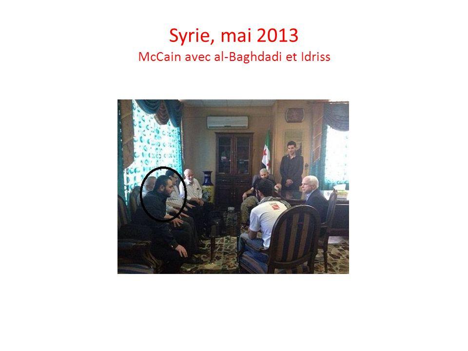 Syrie, mai 2013 McCain avec al-Baghdadi et Idriss