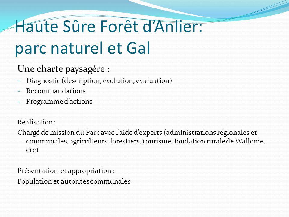 Haute Sûre Forêt d'Anlier: parc naturel et Gal Une charte paysagère : - Diagnostic (description, évolution, évaluation) - Recommandations - Programme