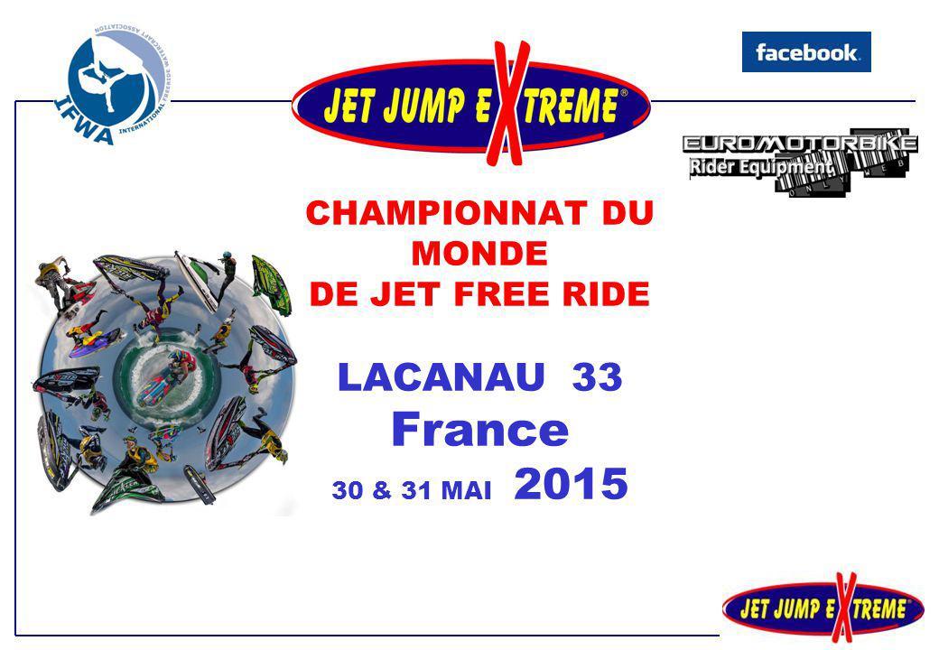 Sous l'égide de l' INTERNATIONNAL FREERIDE WATERCRAFT ASSOCIATION L'AJSA organise les 30 et 31 MAI 2015, la 17 ème Jet Jump E X trême, Manche Francaise du Championnat du Monde de Jetski Freeride IFWA en partenariat avec la ville de LACANAU (33214, Gironde, France).