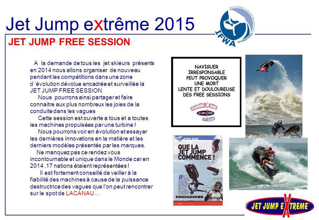 A la demande de tous les jet skieurs présents en 2014 nous allons organiser de nouveau pendant les compétitions dans une zone d 'évolution dévolue enc